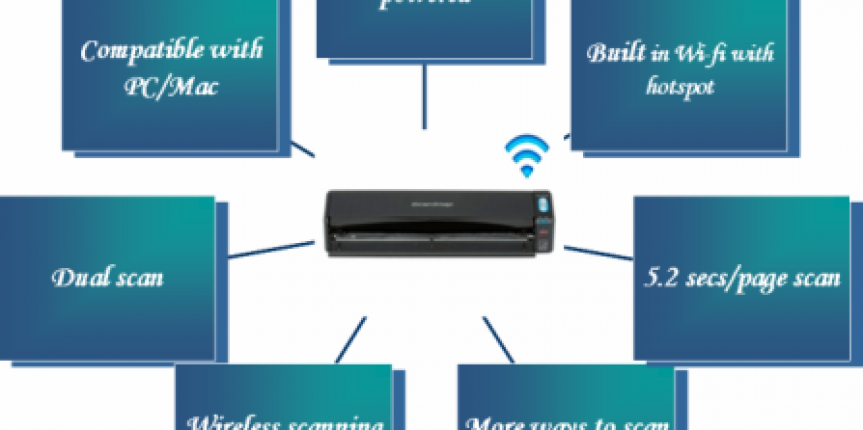canning made faster and easier with Scansnap iX100- wireless portable scanner with wifi connectivity